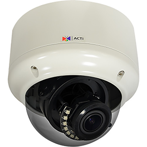 ACTi A82 5MP True Day/Night IR Vandal-Resistant Outdoor Network Zoom Dome Camera