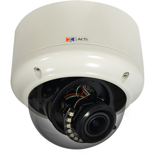 ACTi 2MP Outdoor Dome with 4.3x Zoom 2.8 to 12mm Varifocal Lens and Night Vision