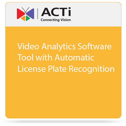 ACTi Video Analytics Software Tool with Automatic License Plate Recognition