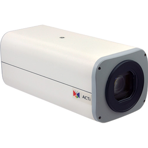 ACTi 3MP Network Zoom Box Camera with Superior WDR and 4.9-49mm Varifocal Lens