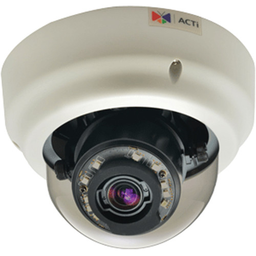 ACTi B62 5MP Day/Night Vandal Resistant Indoor Zoom Dome Camera with 9 to 22mm Varifocal Lens