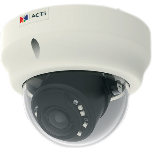 ACTi B64 1.3 Mp Basic WDR Day & Night Indoor IR Dome PoE Camera with 3x Zoom Lens
