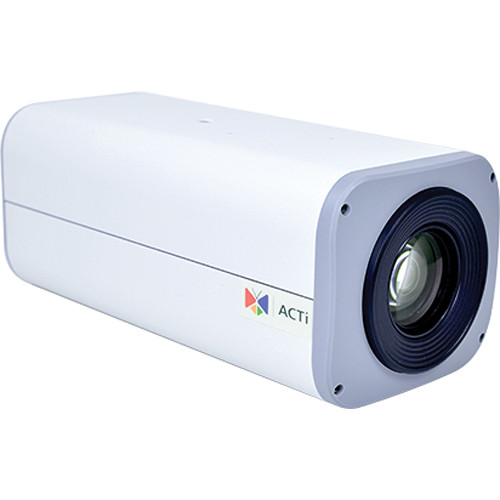 ACTi E210 10MP Day/Night PoE Indoor/Outdoor PTZ Zoom Box Camera with 4.9 to 49mm Lens & Heater