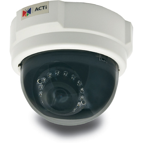 ACTi E58 2MP Day/Night 1080p IR Indoor IP Dome Camera with 3.6mm Fixed Lens