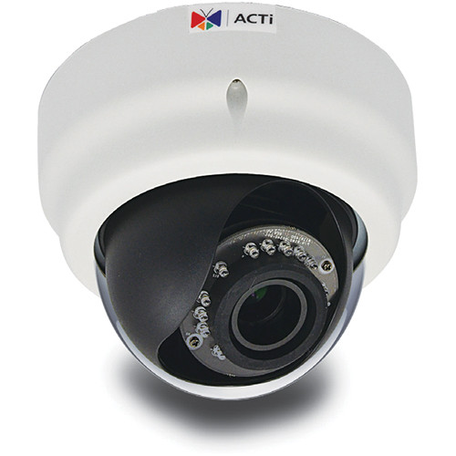 ACTi E65 3MP IR Day/Night Indoor Full HD IP Dome Camera with Superior WDR & 2.8 to 12mm Varifocal Lens