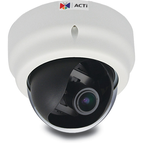 ACTi E66 1.3MP Indoor IP Dome Camera with SLLS & 2.8 to 12mm Varifocal Lens