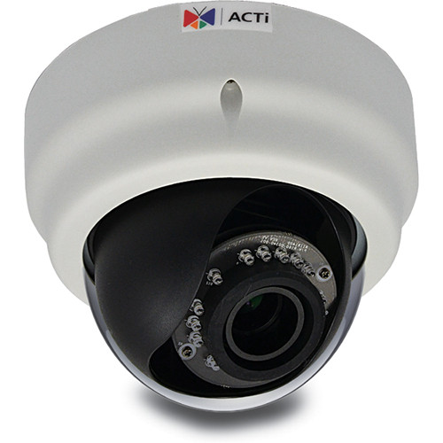 ACTi E69 2MP Day/Night Indoor IP Dome Camera with Adaptive IR, SLLS, & 2.8 to 12mm Varifocal Lens