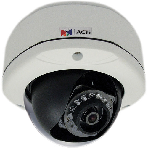 ACTi E73 5MP IR Day/Night Outdoor IP Dome Camera with Basic WDR, 2-Way Audio Support, & 2.93mm Fixed Lens