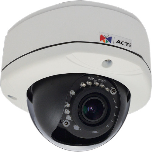 ACTi E84 2MP IR Day/Night Outdoor IP Dome Camera with SLLS, 2-Way Audio Support, & 2.8 to 12mm Varifocal Lens