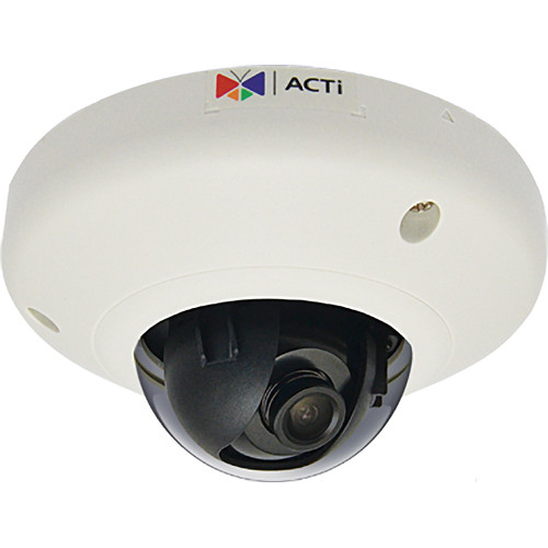 ACTi 5MP WDR Vandal-Resistant Network Fisheye Mini Dome Camera with 2.1mm Lens