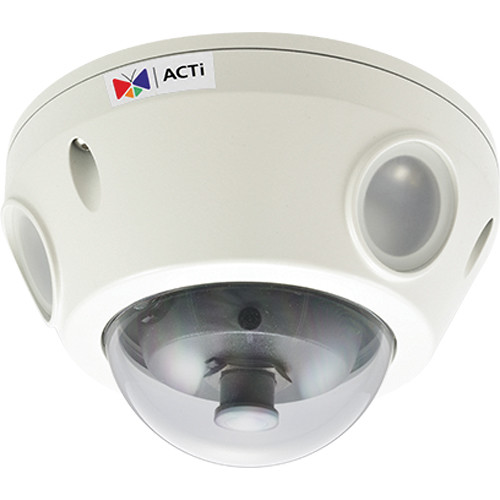ACTi E924 5MP IR Day/Night Outdoor IP Dome Camera with 1-Way Audio Support & 2.93mm Lens