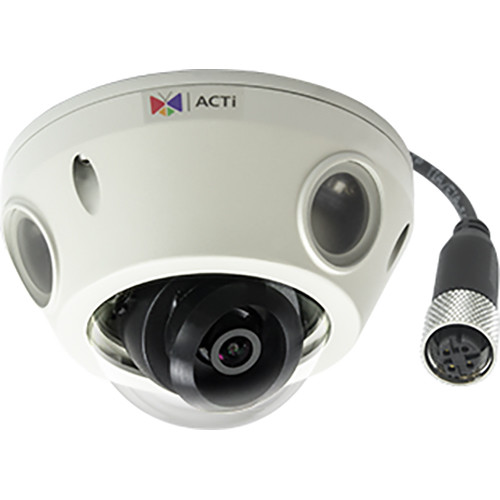 ACTi 2MP Outdoor Mini Dome Camera with 2.55mm Fixed Lens and M12 Connector