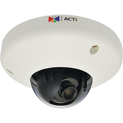 ACTi E95 2 Mp Vandal-Resistant Indoor Mini Dome IP Camera with f3.6mm Fixed Lens