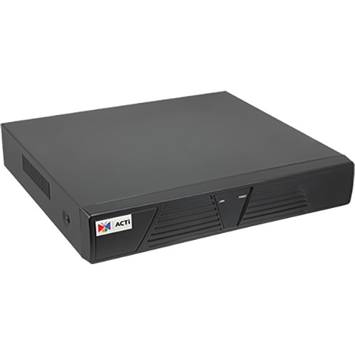 ACTi 4-Channel 1-Bay Desktop NVR with 4-Port PoE Connectors (No HDD)