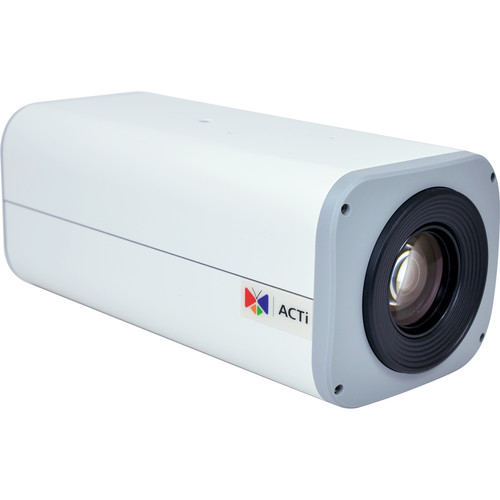 ACTi I24 1MP Day/Night IP Box Camera with SLLS, Extreme WDR, and 30x Zoom Lens