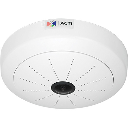 ACTi I53 6MP Indoor PoE Hemispheric Dome Camera with 1.3mm Fixed Focal Lens
