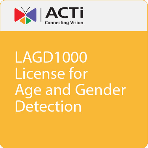 ACTi LAGD1000 License for Age and Gender Detection