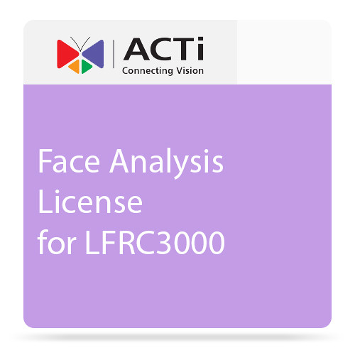 ACTi Face Analysis License for LFRC3000