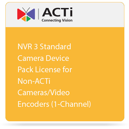 ACTi NVR 3 Standard Camera Device Pack License for Non-ACTi Cameras/Video Encoders (1-Channel)