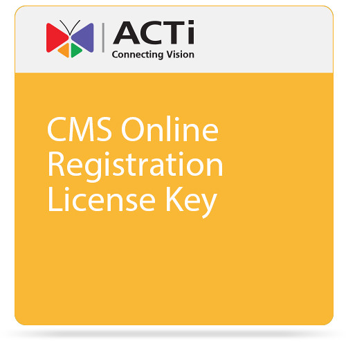 ACTi CMS Online Registration License Key