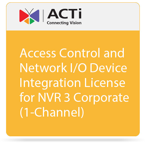 ACTi Access Control and Network I/O Device Integration License for NVR 3 Corporate (1-Channel)