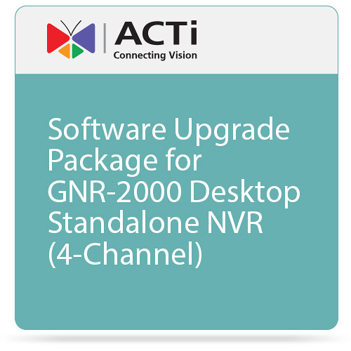 ACTi Software Upgrade Package for GNR-2000 Desktop Standalone NVR (4-Channel)