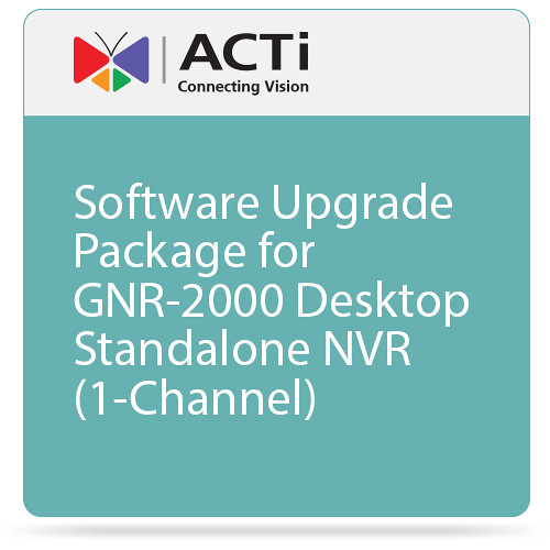 ACTi Software Upgrade Package for GNR-2000 Desktop Standalone NVR (1-Channel)