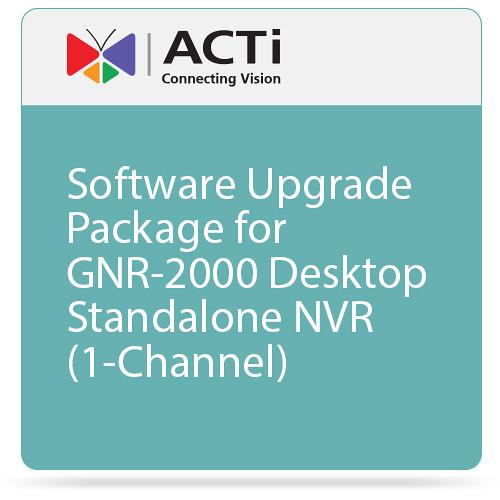 ACTi Software Upgrade Package for GNR-2000 Desktop Standalone NVR (1-Channel)