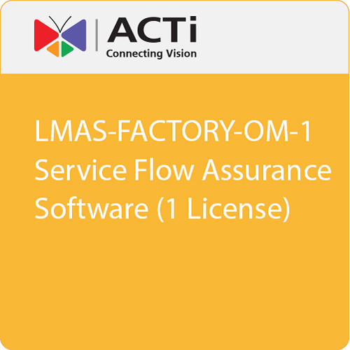 ACTi LMAS-FACTORY-OM-1 Service Flow Assurance Software (1 License)