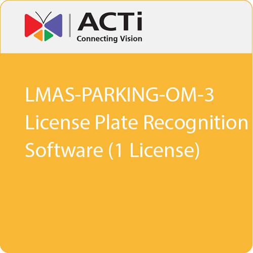 ACTi LMAS-PARKING-OM-3 License Plate Recognition Software (1 License)