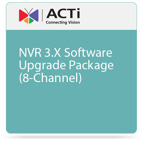 ACTi NVR 3.X Software Upgrade Package (8-Channel)