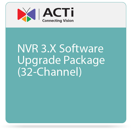 ACTi NVR 3.X Software Upgrade Package (32-Channel)