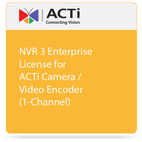 ACTi NVR 3 Enterprise License for ACTi Camera / Video Encoder (1-Channel)