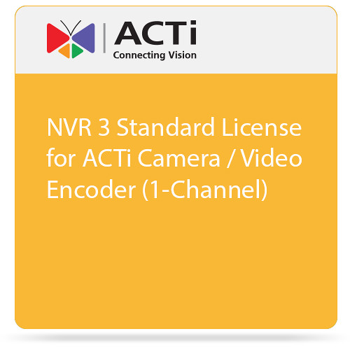 ACTi NVR 3 Standard License for ACTi Camera / Video Encoder (1-Channel)