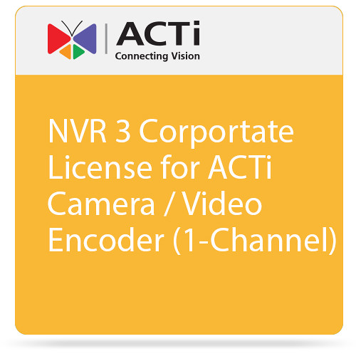 ACTi NVR 3 Corportate License for ACTi Camera / Video Encoder (1-Channel)