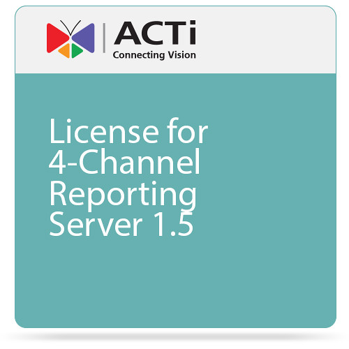 ACTi 4-Channel Reporting License for Server 1.5