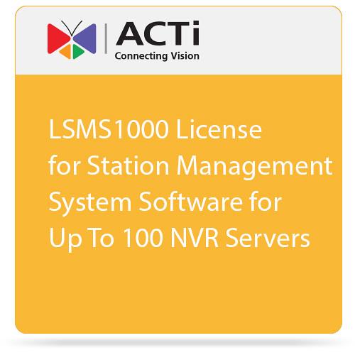 ACTi LSMS1000 License for Station Management System Software for Up To 100 NVR Servers
