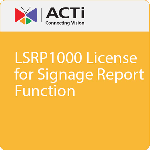ACTi LSRP1000 License for Signage Report Function