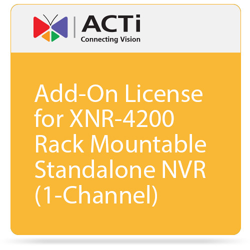 ACTi Add-On License for XNR-4200 Rack Mountable Standalone NVR (1-Channel)