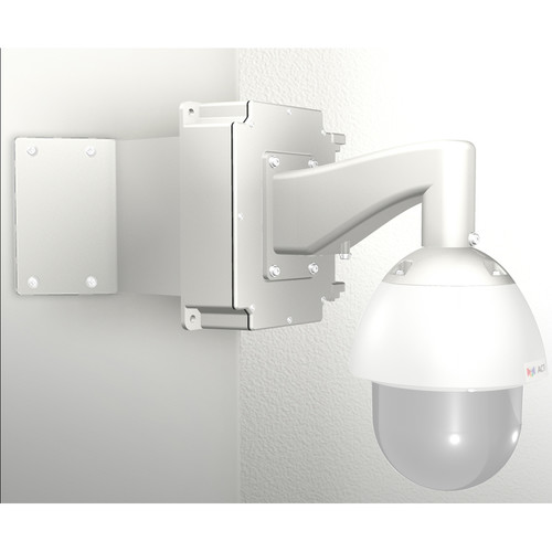 ACTi SMAX-0168 Corner Mount with Junction Box & Heavy Duty Wall Mount for Select Outdoor PTZ/Speed Dome Cameras