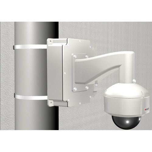 ACTi Pole Mount with Junction Box, Heavy Duty Wall Mount, & Mount Kit for Select Dome Cameras