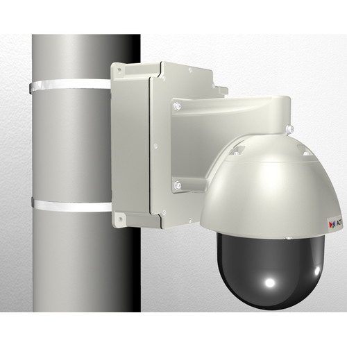 ACTi Pole Mount with Junction Box & PTZ Wall Mount for Select Outdoor PTZ/Speed Dome Cameras