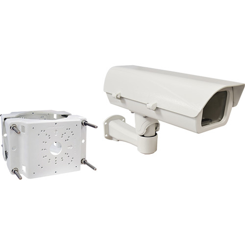 ACTi PMAX-0508 Pole Mount with PMAX-0204 Mounting Bracket & Heavy-Duty Outdoor Housing for Select Box Cameras (110V)
