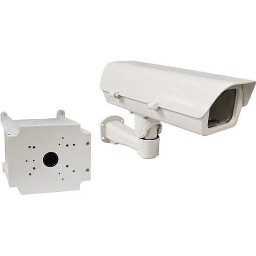 ACTi PMAX-0204 110V Heavy-Duty Outdoor Camera Housing with Bracket & PMAX-0704 Junction Box Kit