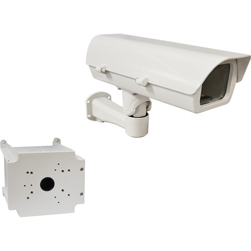 ACTi PMAX-0206 PoE Heavy-Duty Outdoor Camera Housing with Bracket & PMAX-0704 Junction Box Kit