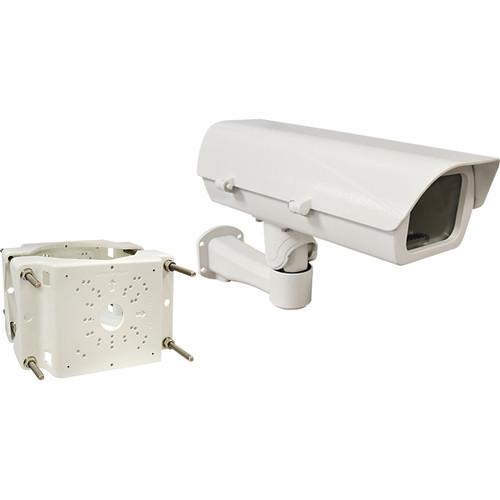 ACTi Pole Mount& PoE Heavy-Duty Outdoor Camera Housing with Bracket Combo Kit