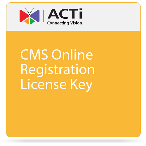 ACTi CMS Online Registration License Key