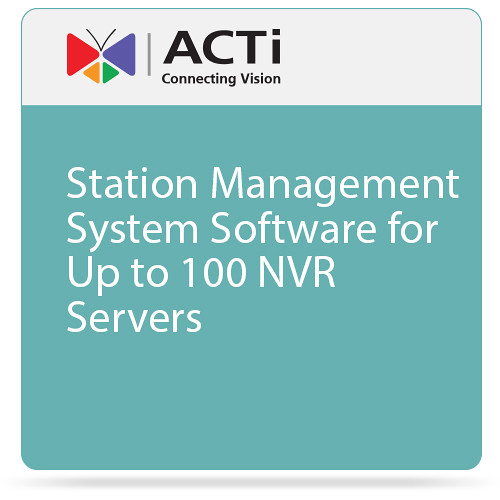 ACTi Station Management System Software for Up to 100 NVR Servers