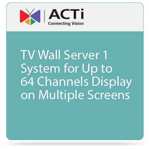 ACTi TV Wall Server 1 System for Up to 64 Channels Display on Multiple Screens
