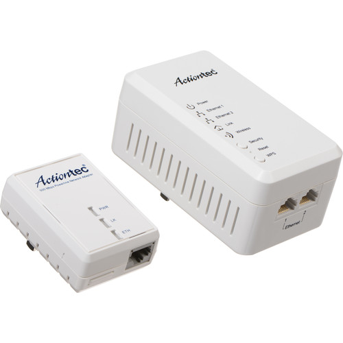 Actiontec PWR51WK01 Wireless Network Extender with Powerline Network Adapter 500 Kit